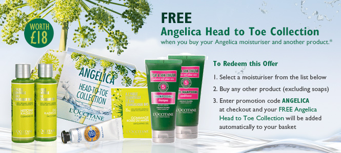 FREE ANGELICA HEAD-TO-TOE COLLECTION when you buy your Angelica moisturiser and another product