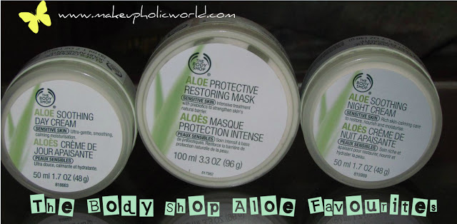 My Body Shop Aloe Favourites………