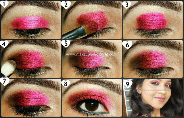 Hot Pink Eye Look for Fall
