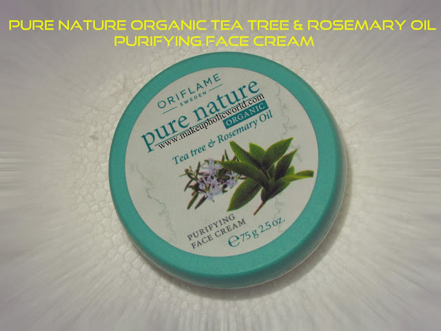 Oriflame Pure Nature Organic Tea Tree & Rosemary Oil Purifying Face Cream
