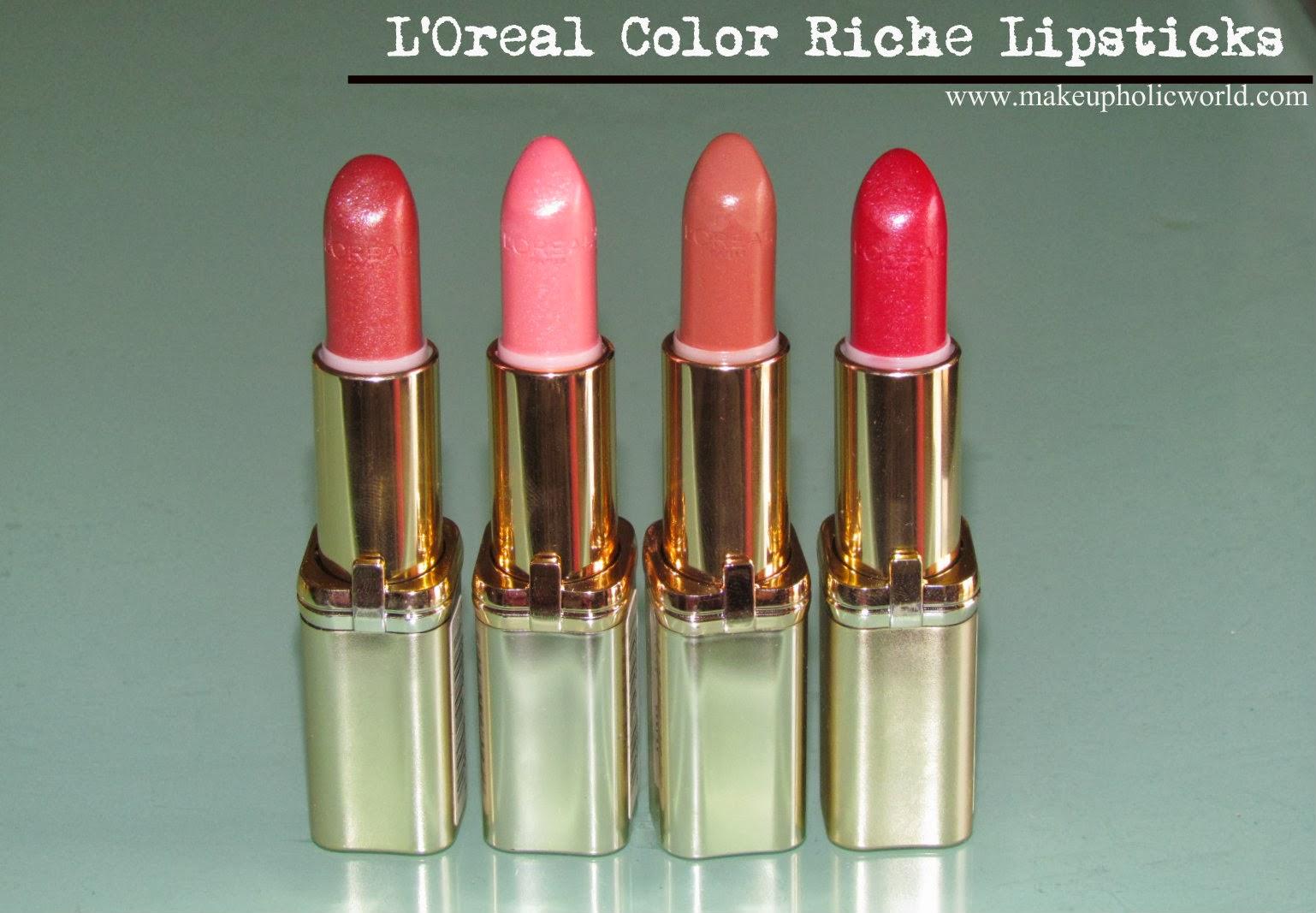L'Oreal Color Riche Lipsticks