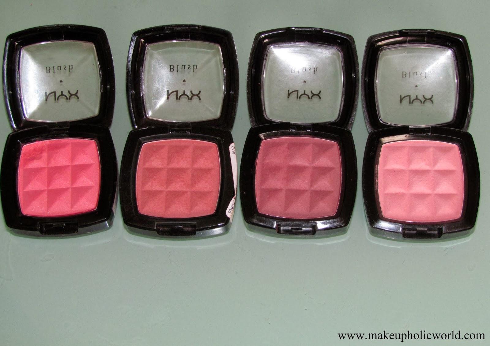 NYX Blush- Rose Garden, Mocha, Silky Rose, Peach