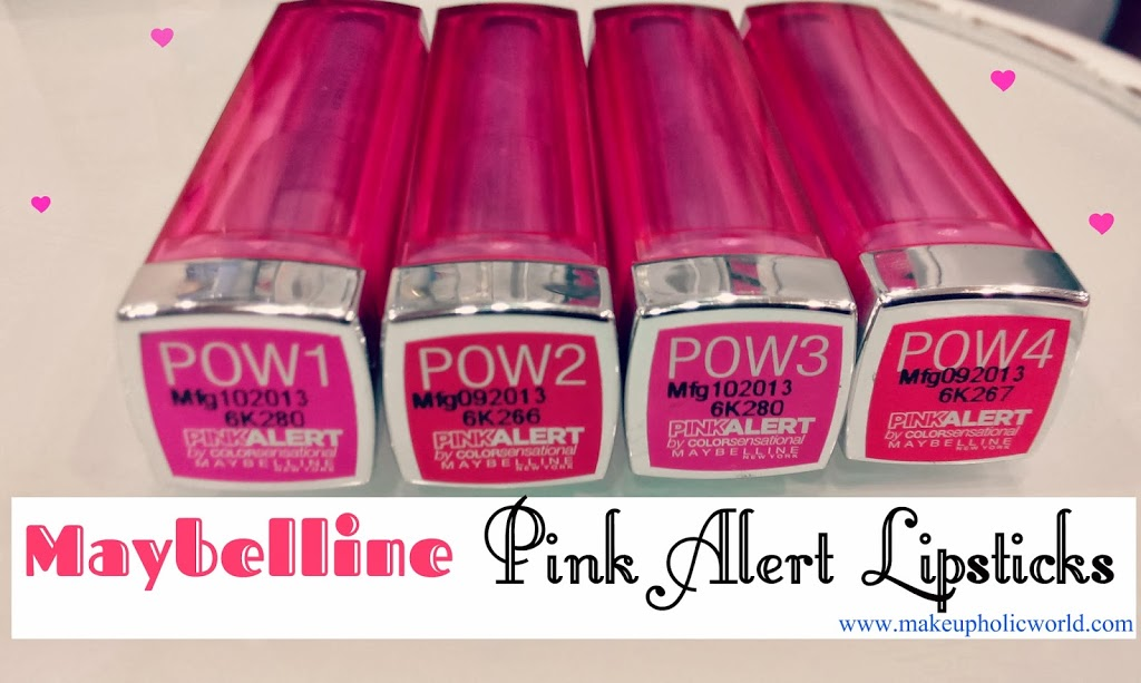 Maybelline Color Sensational Pink Alert Lipstick Swatches, Price in India