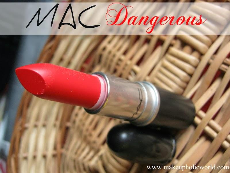 Mac Retro Matte Lipstick Dangerous review, Swatches LOTD