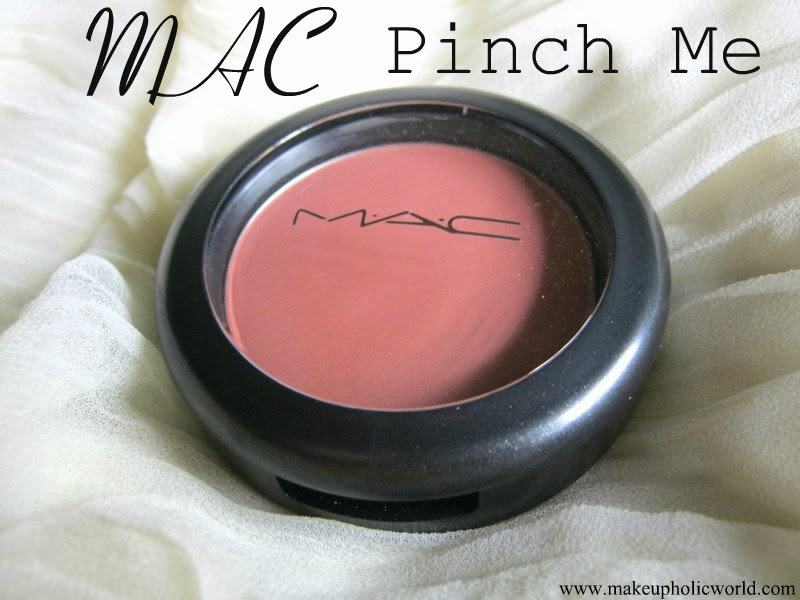 MAC Sheertone Blush- PINCH ME- Review and Swatches & FOTD