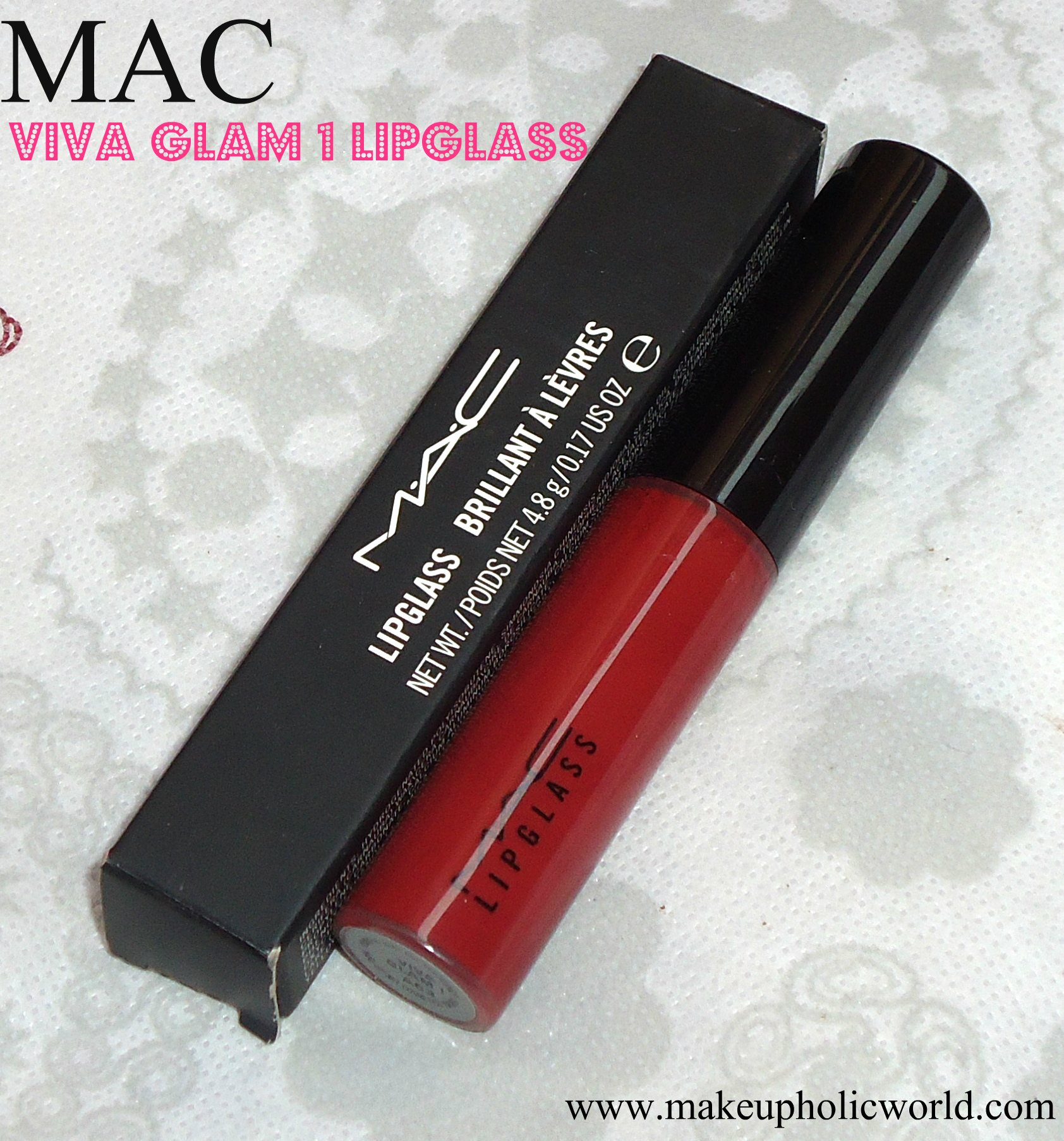 MAC Tinted Lipglass Viva Glam I review, swatches & FOTD
