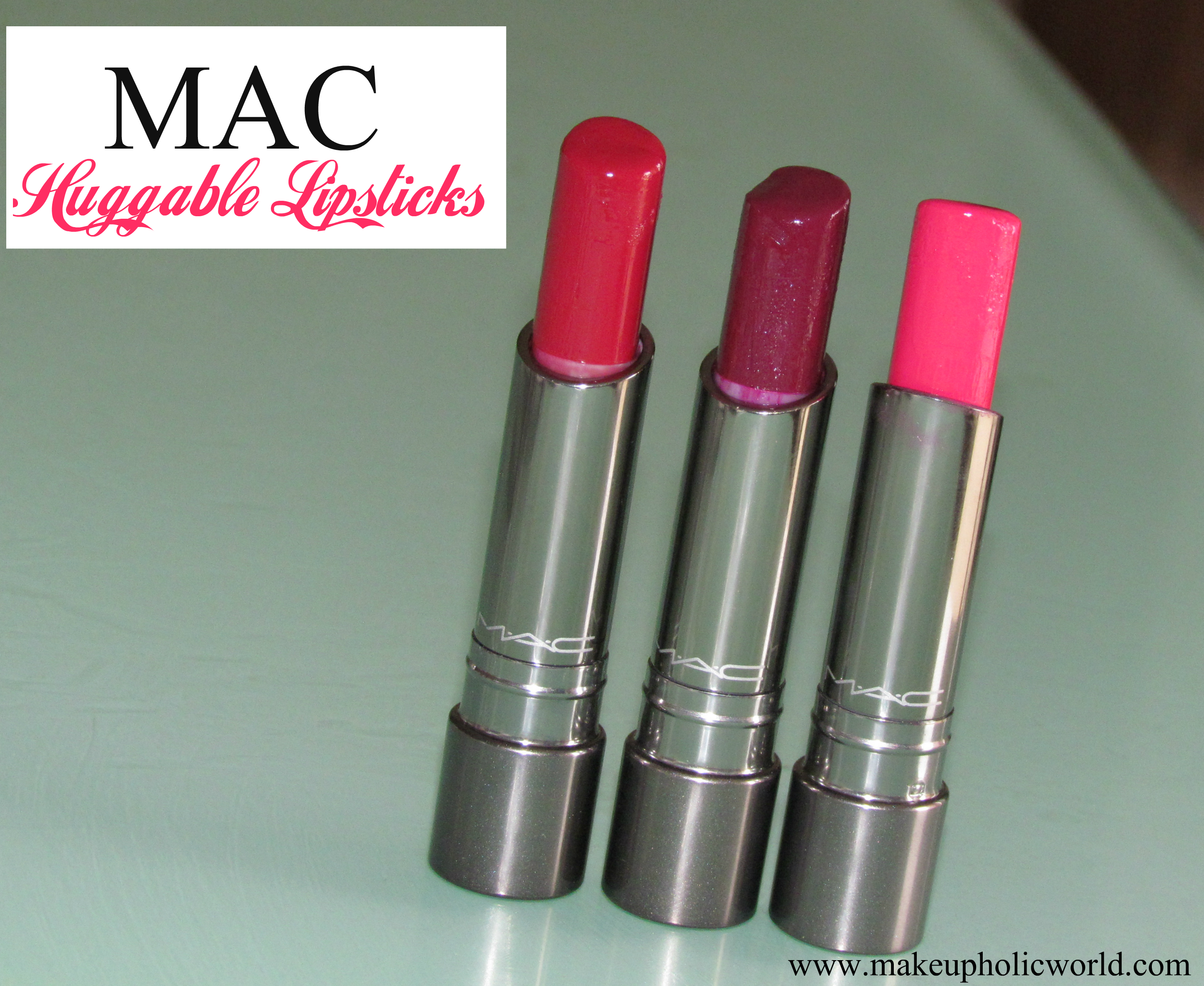 MAC Huggable Lipcolor- Red Necessity, Commotion & Feeling Amorous : Review, Swatches, LOTDs