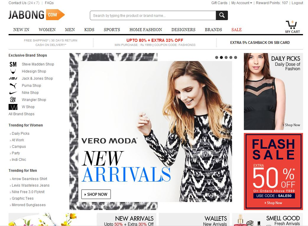 My shopping experience with jabong.com