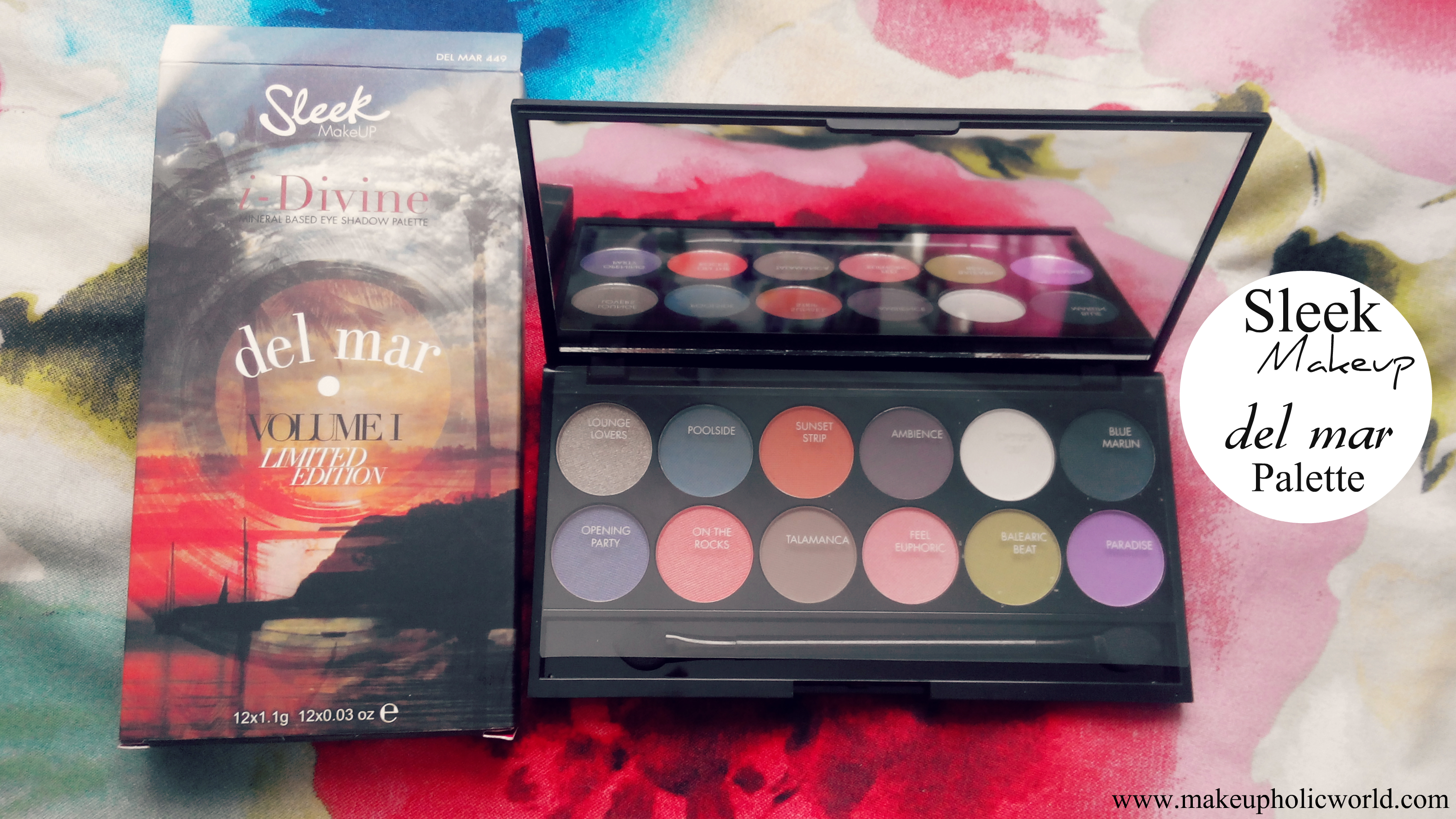 Sleek MakeUP Del Mar i-Divine Palette Review, Swatches