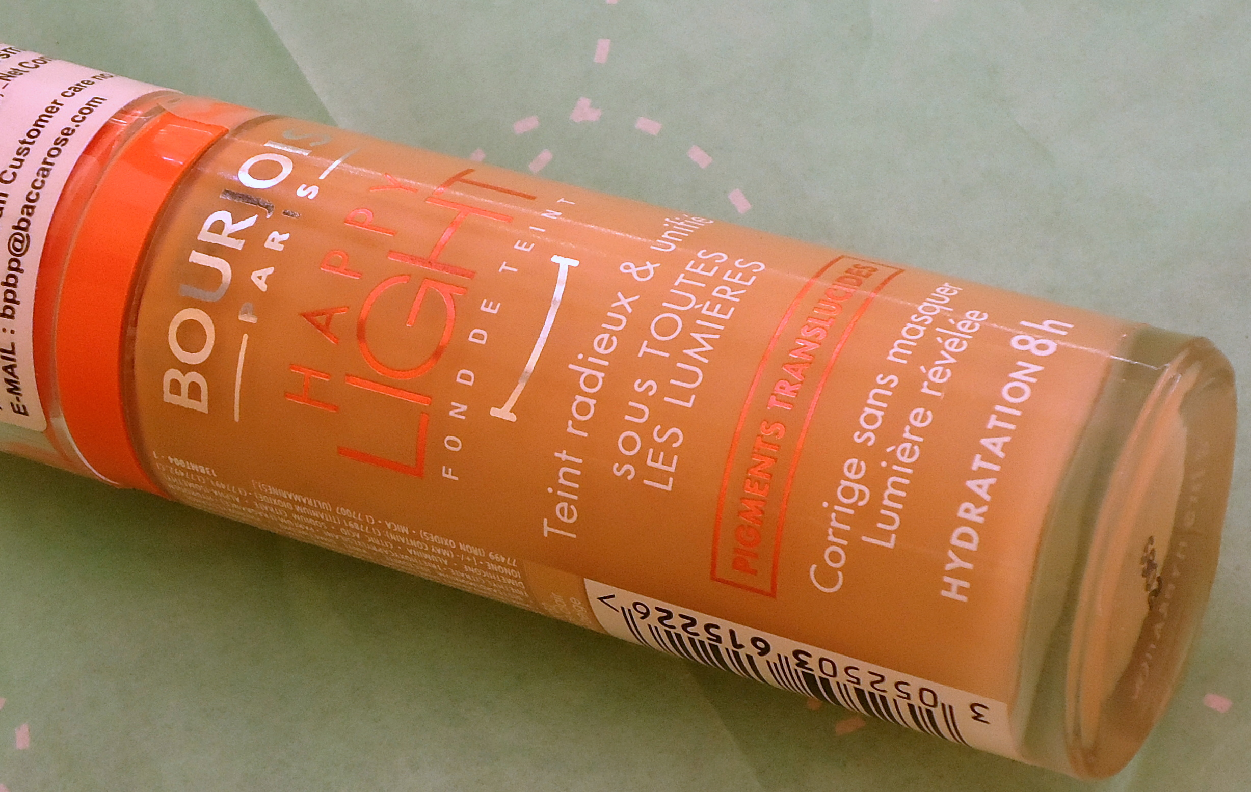Bourjois Happy Light foundation in shade 52 review, Swatches & FOTD