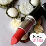 MAC Lustre lipstick in See Sheer, Review, Swatches & LOTD