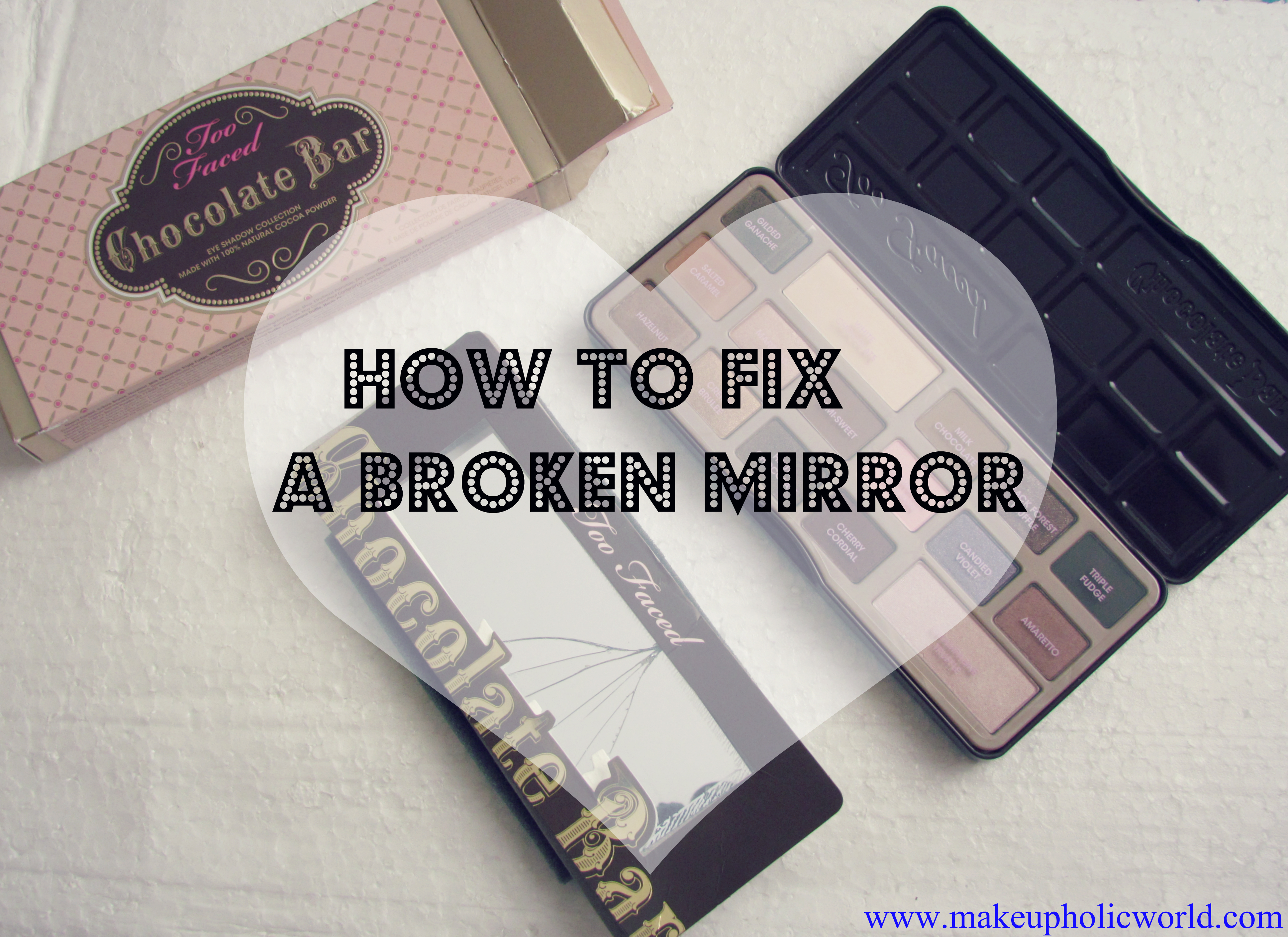 How to fix a broken Eyeshadow Palette Mirror
