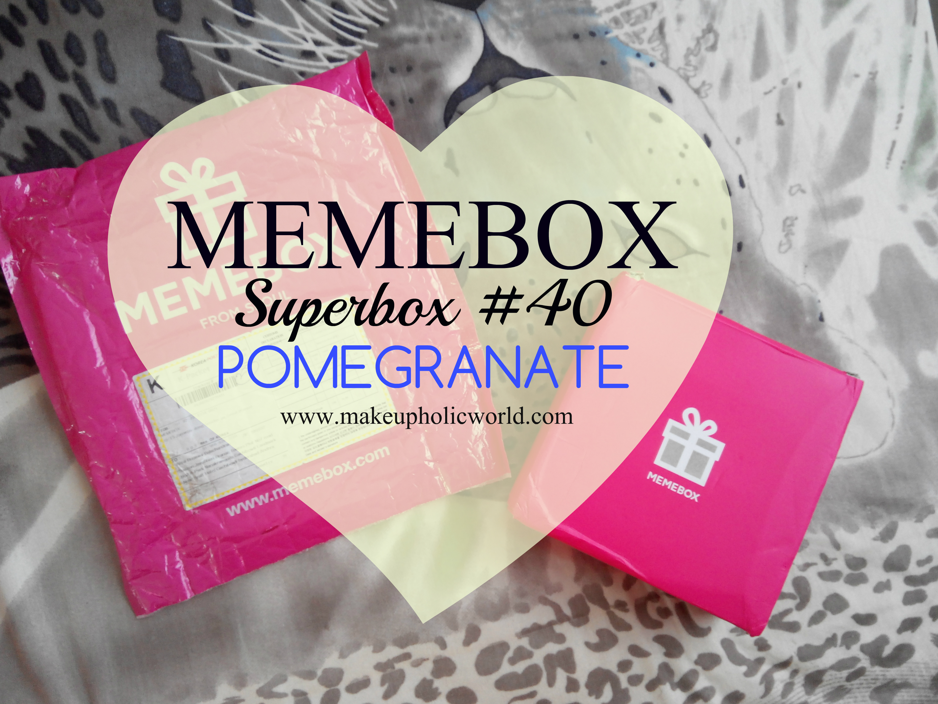 Unboxing MEMEBOX Superbox#40 : Pomegranate