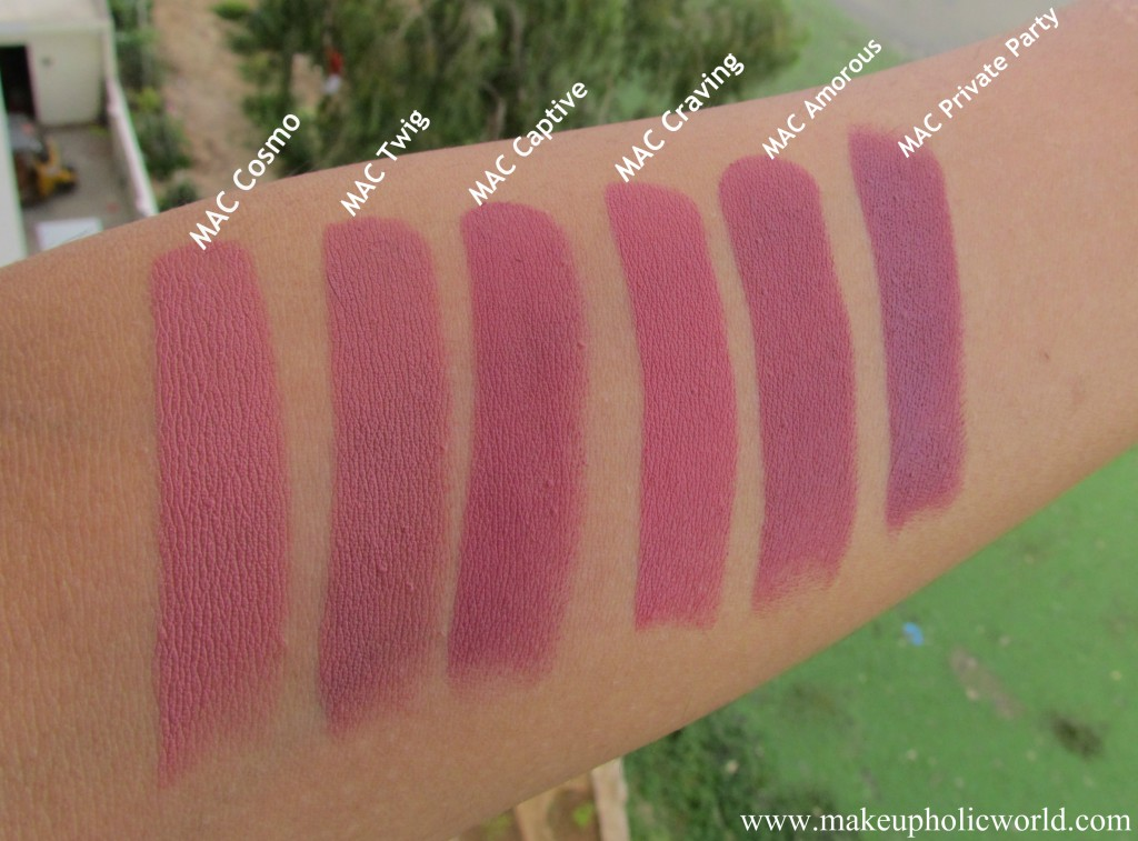 Swatches of 6 MAC lipsticks that look alike | Makeupholic ...