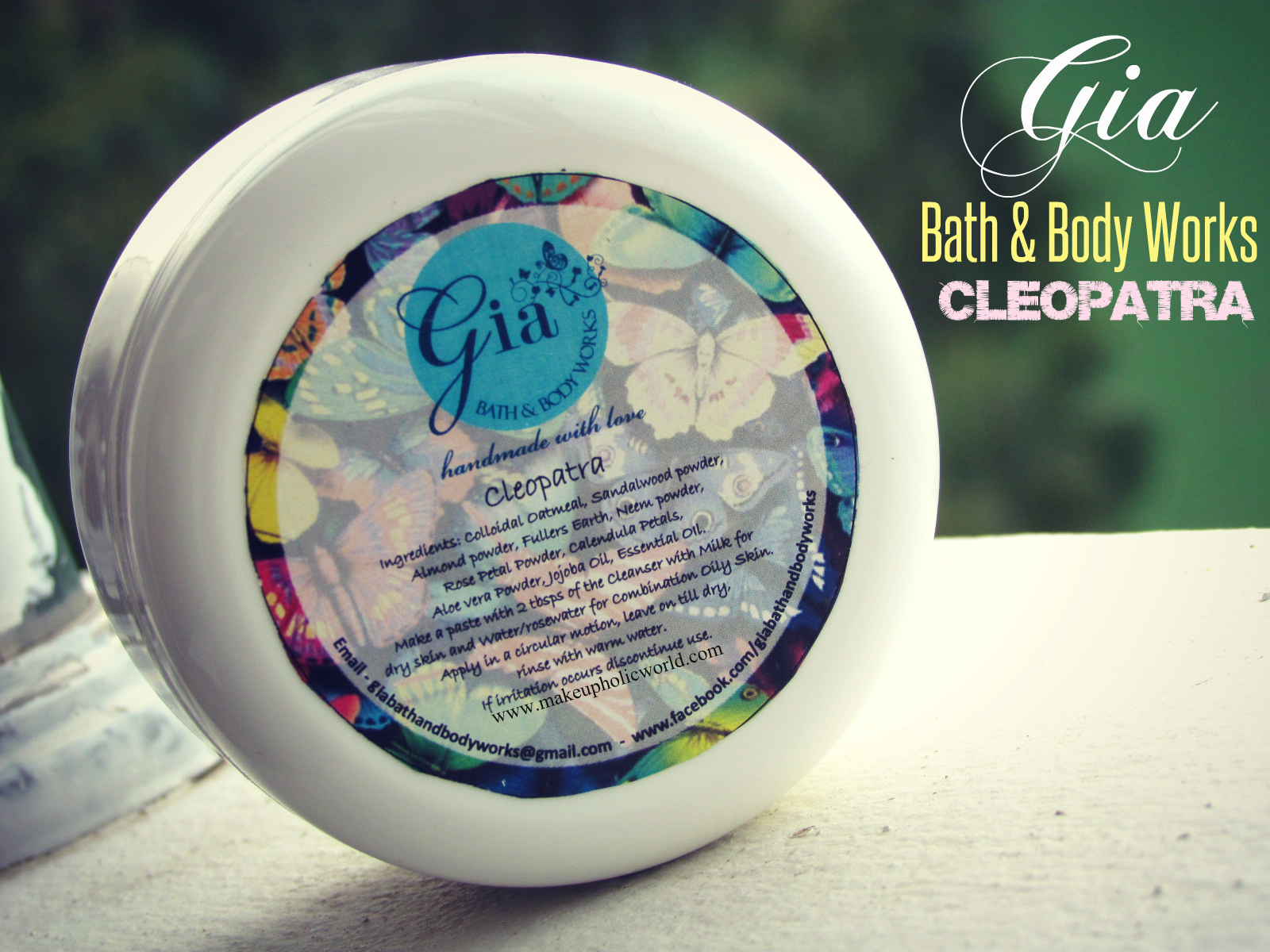 A wonderful product for tan removal – Gia Bath & Body Works – Cleopatra