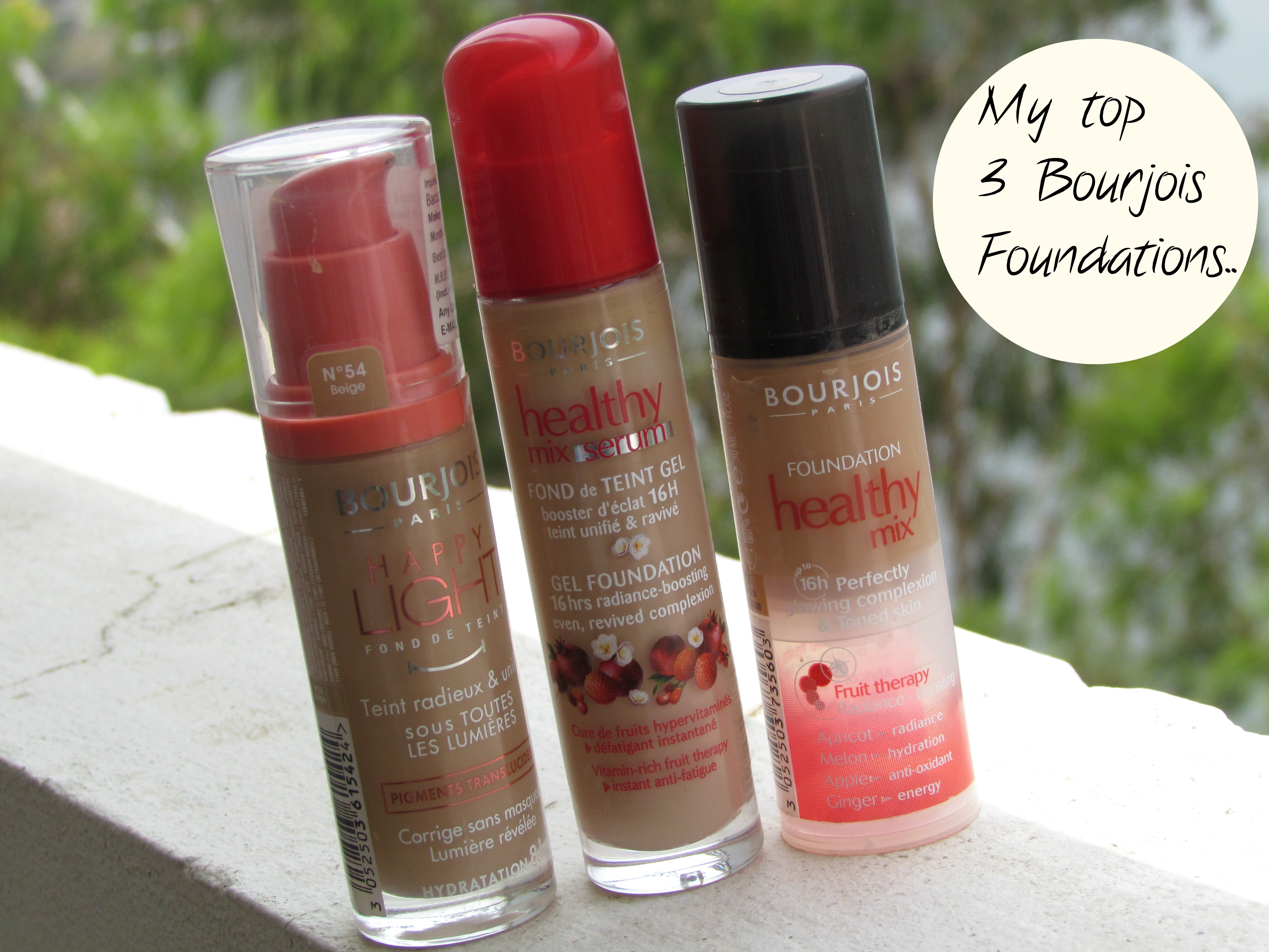 My top 3 Bourjois Foundations