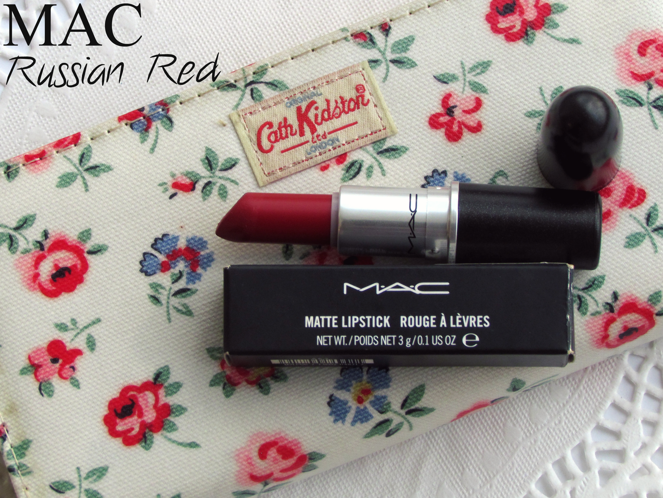MAC Matte Lipstick – Russian Red & Comparison with MAC Ruby Woo