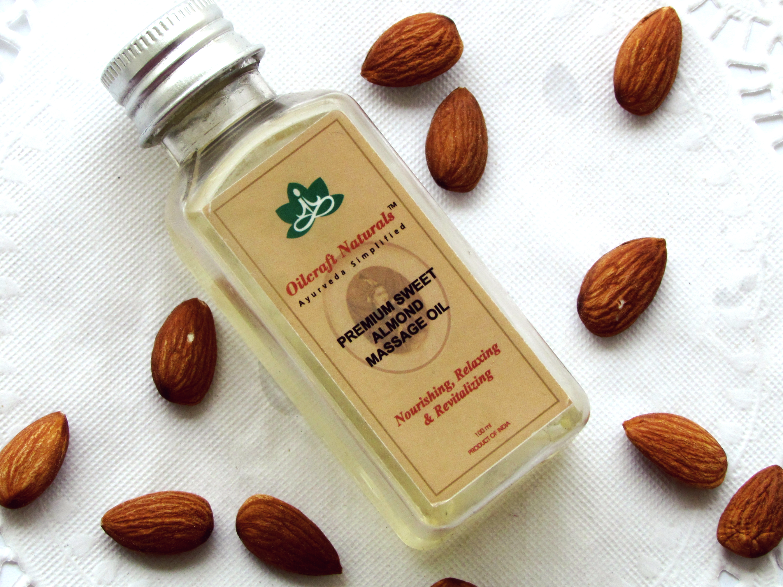 Oilcraft Naturals Premium Sweet Almond Massage Oil
