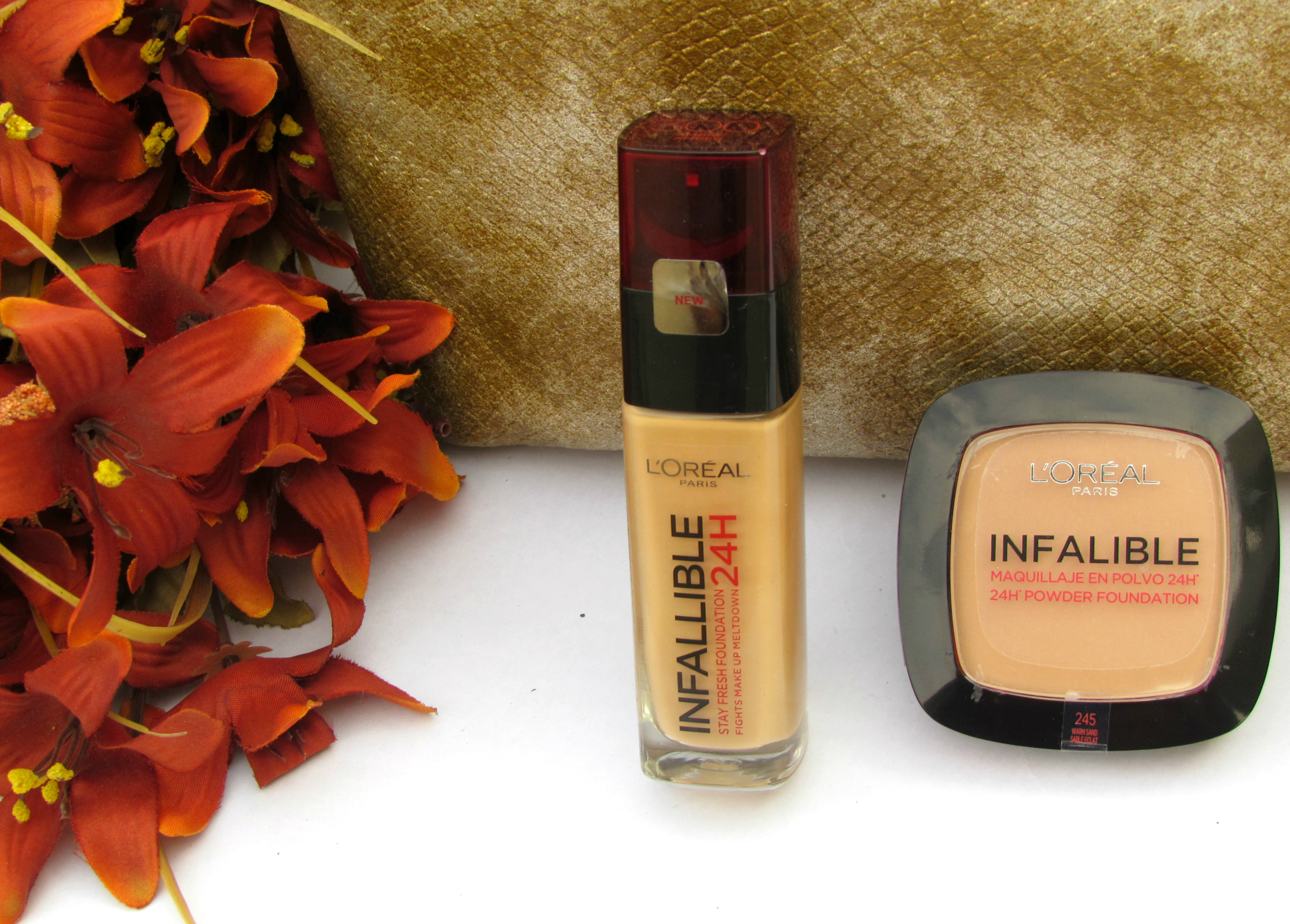 L'Oreal Infallible Stay Fresh 24H Liquid & Powder Foundations Review, Swatch, FOTD