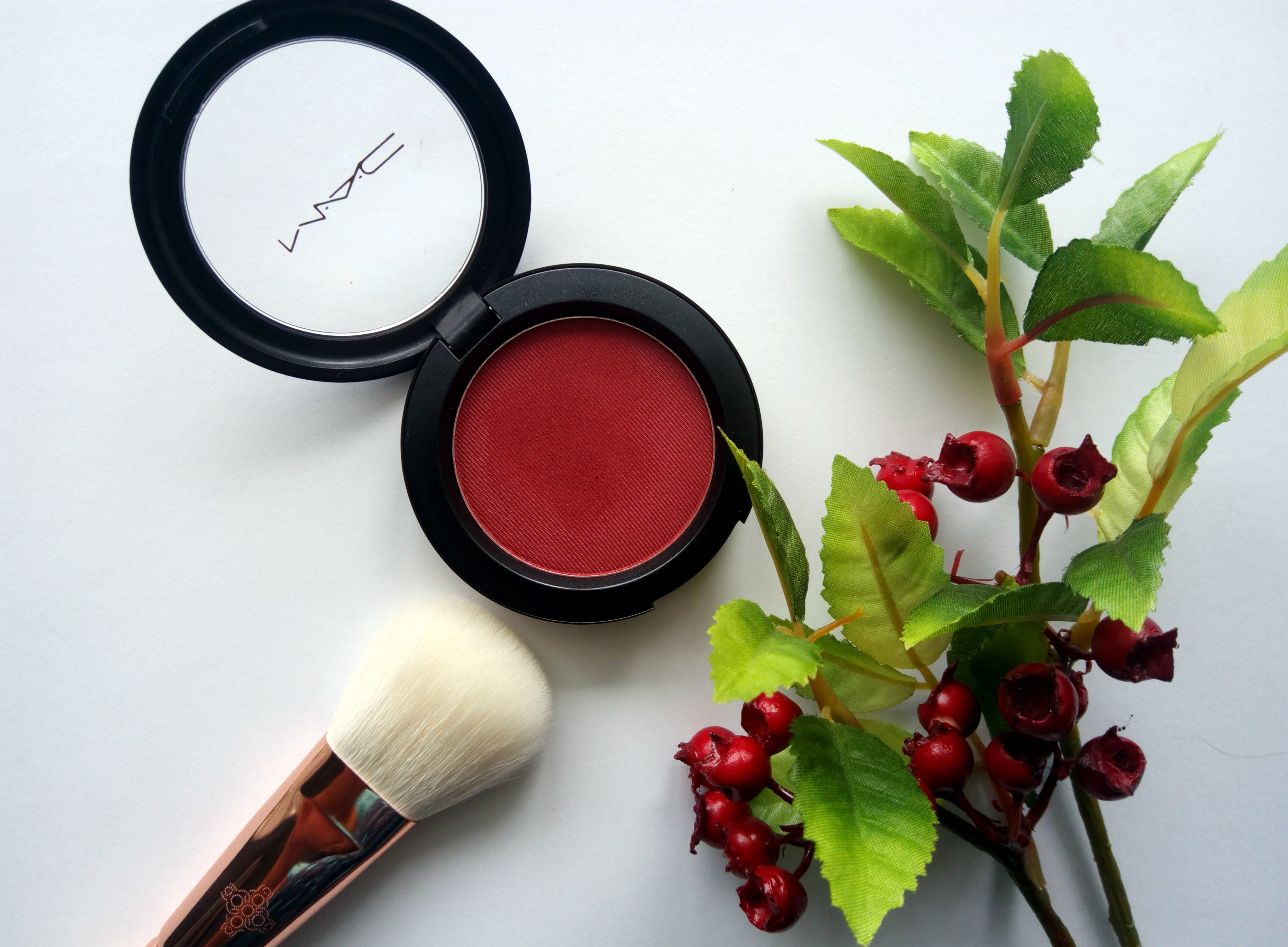 MAC MACnificent Me Collection Powder Blush – A Little Lusty   Review, Swatches, FOTD
