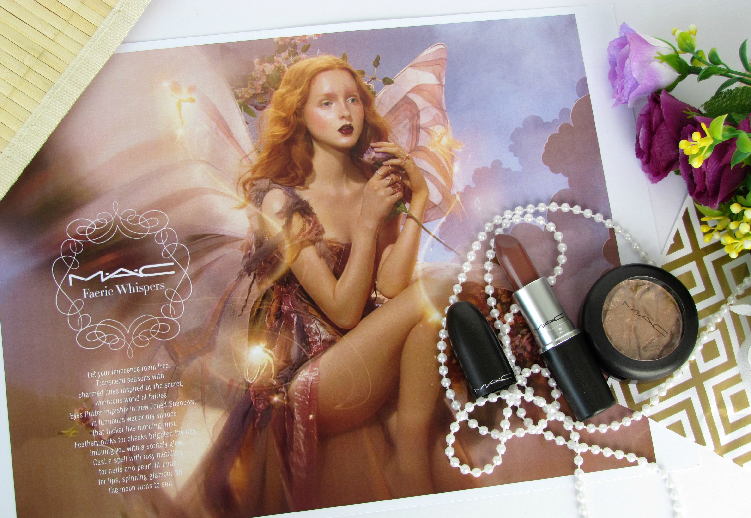 MAC Faerie Whispers Collection – Among The Fireflies Lipstick & Joy Toy Foiled Eye Shadow | Review