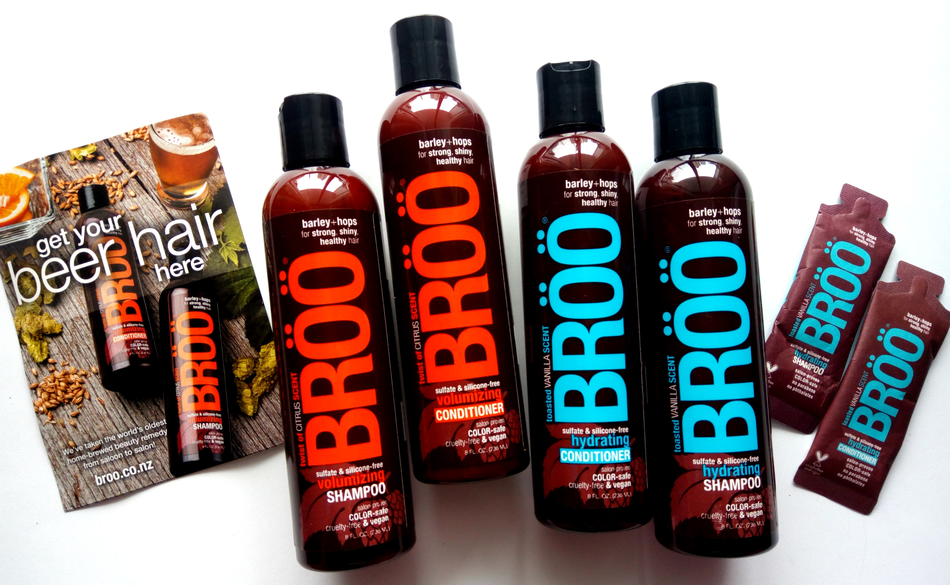 Get your Beer Hair with BRÖÖ Shampoo & Conditioner