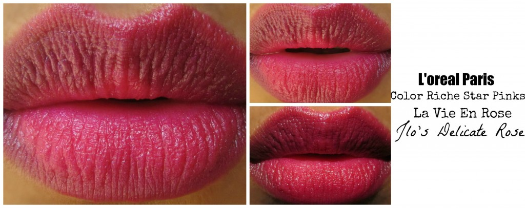 ... berries and anything in berry color easily attracts me. This is a very pretty berry pinkish shade, The texture is smooth and applies perfectly on lips.