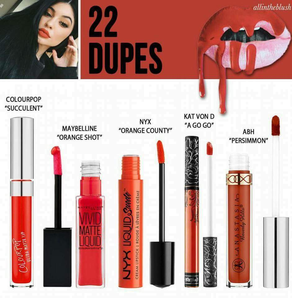 KYLIE JENNER LIP KIT DUPES