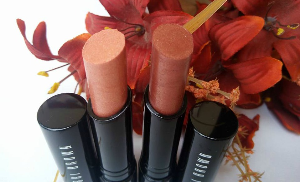 Bobbi Brown Beach Nudes Collection Sheer Lip Color Boho Bronze PinkGold review_0067