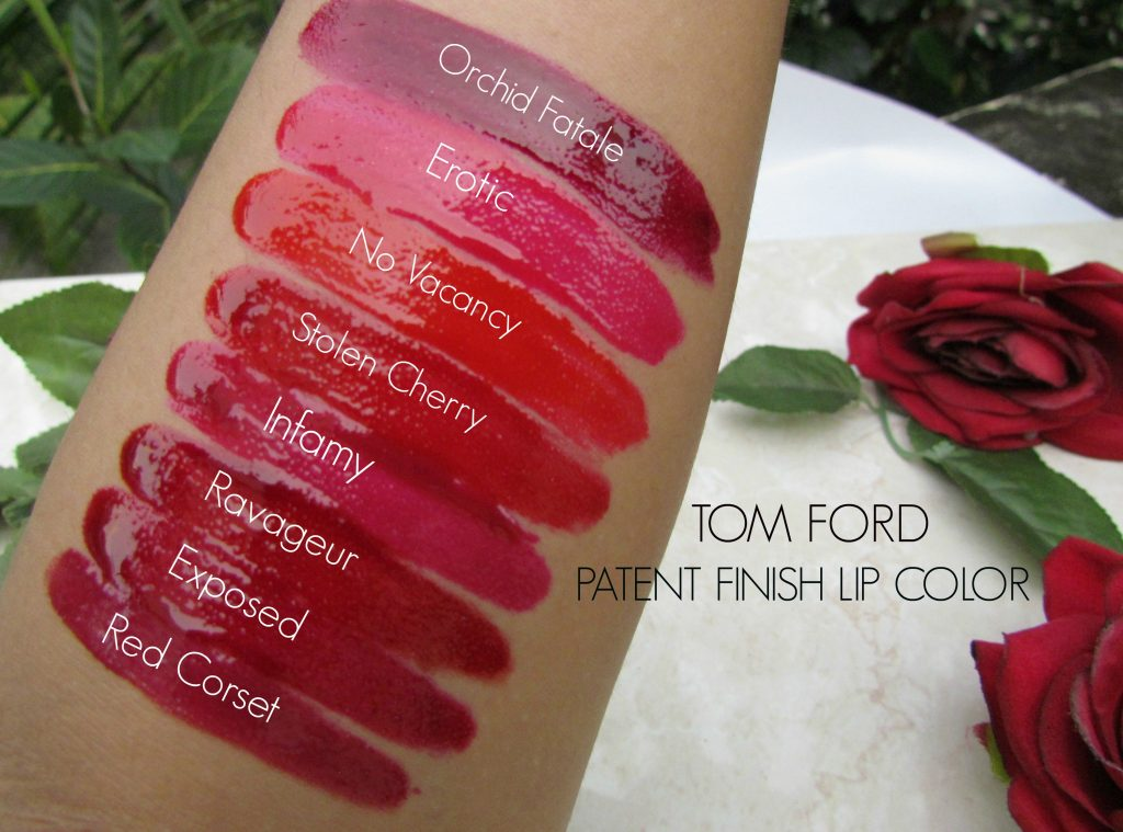 TOM FORD PATENT FINISH LIP COLOR REVIEW, SWATCHES & LOTDS ...