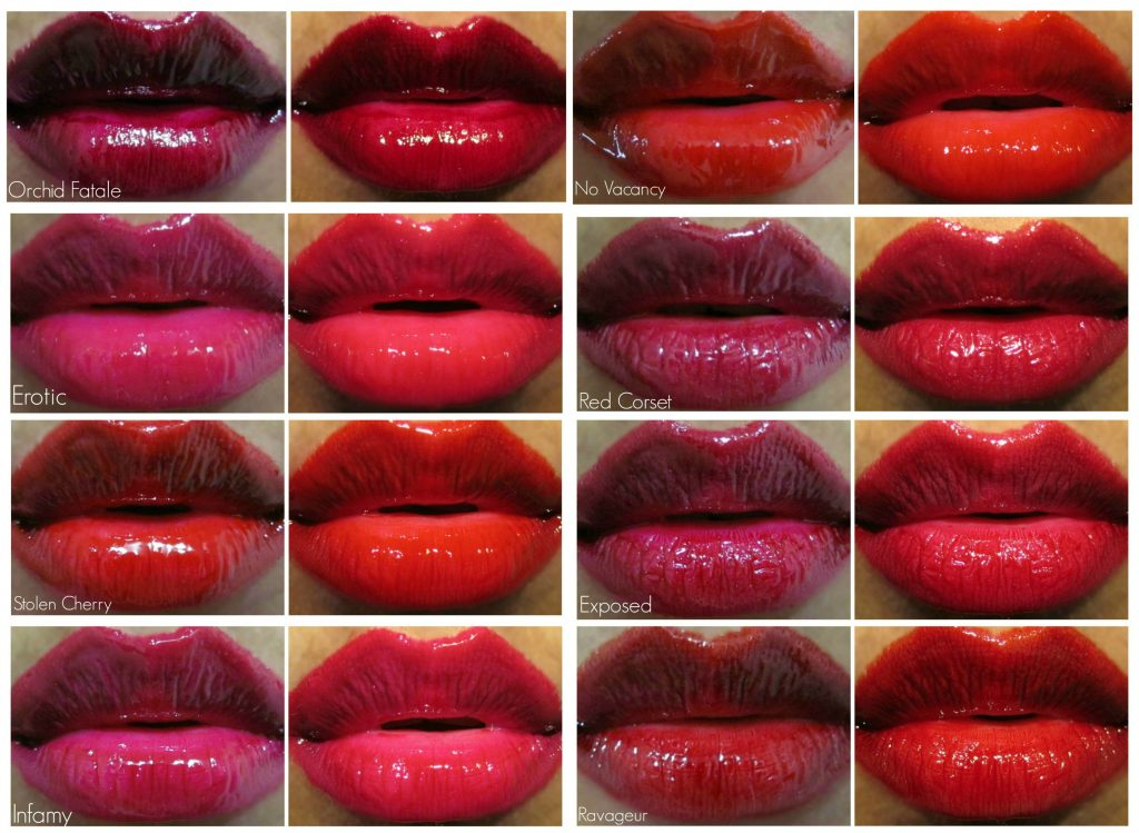 Tom Ford Patent Finish Lip Color lip swatches