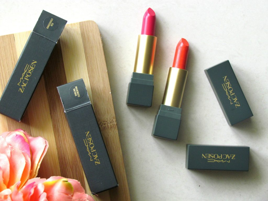 MAC Zac Posen Lipsticks Dangerously Red, Darling Clementine