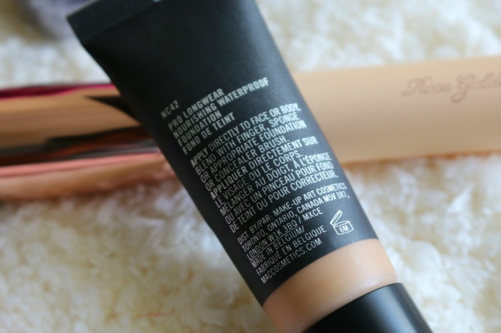 MAC Pro Longwear Nourishing Waterproof Foundation NC42 review