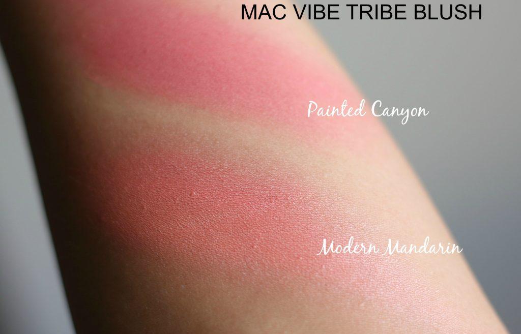 mac vibe tribe blush swatches