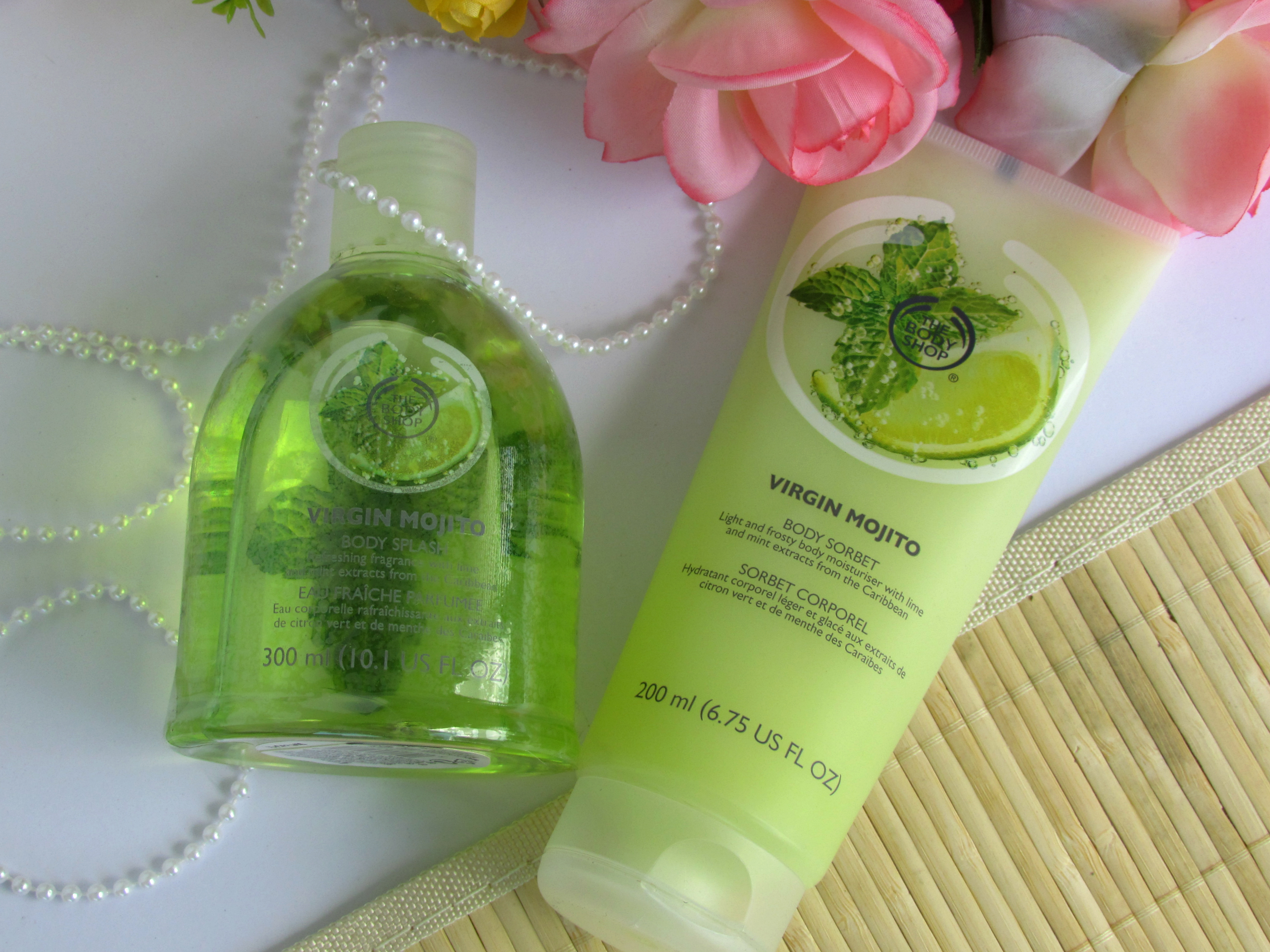 THE BODY SHOP VIRGIN MOJITO BODY SORBET &  BODY SPLASH