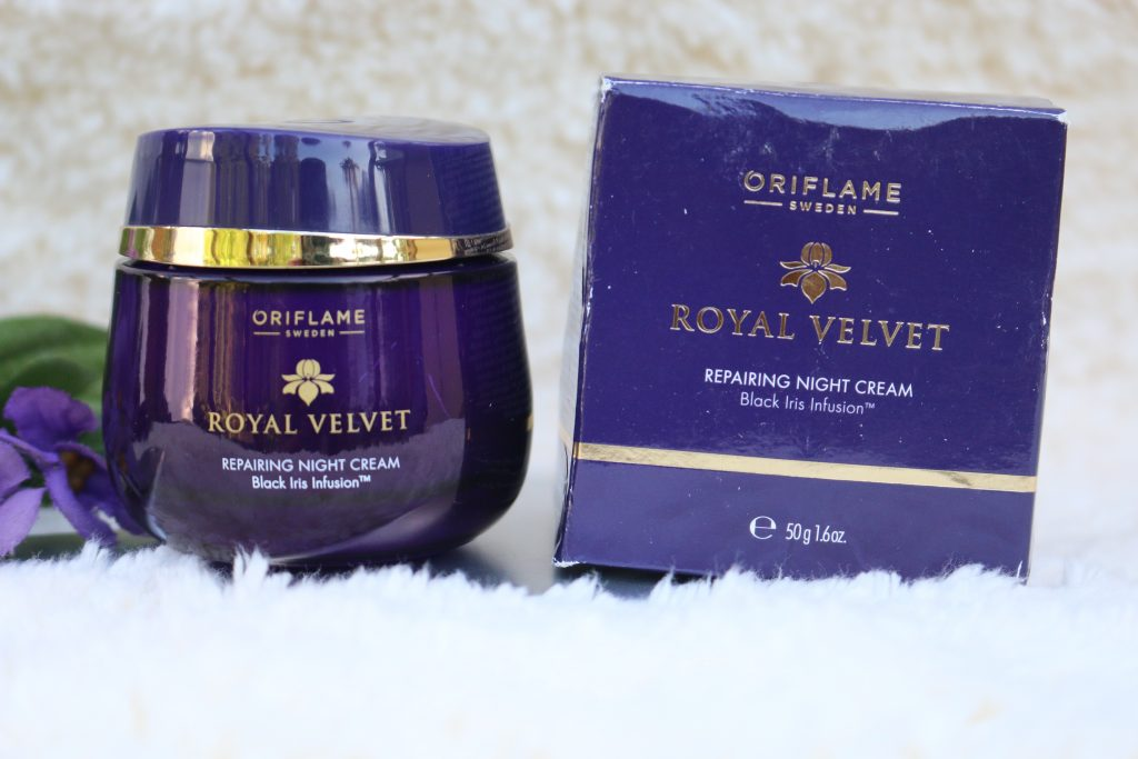 oriflame royal velvet repairing night cream