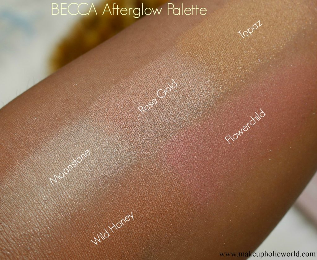 Becca Afterglow Palette Swatches