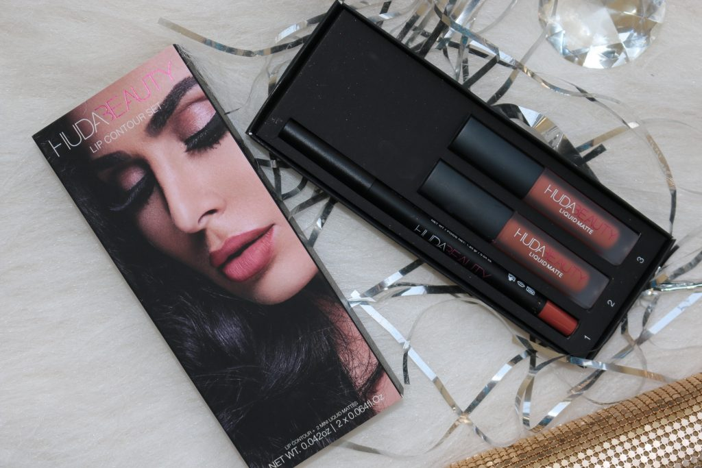 Huda Beauty Lip Contour Set { Liquid Mattes in Trendsetter, Bombshell; Lip Contour pencil in Trendsetter }