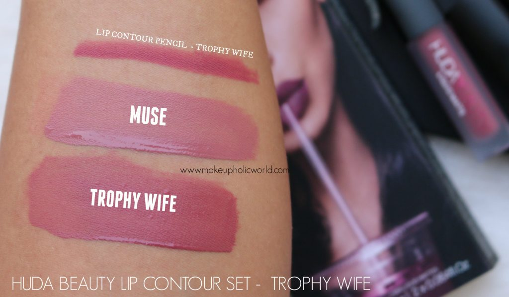 huda beauty liquid matte trophy wife, muse review