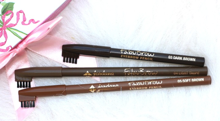 Jordana Cosmetics Fabubrow Eyebrow Pencil - dark brown.soft brown, light taupe