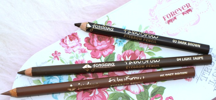 Jordana Cosmetics Fabubrow Eyebrow Pencil - dark brown.soft brown, light taupe review