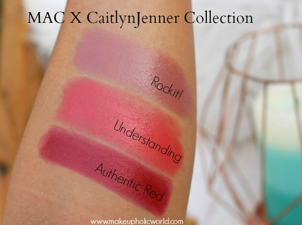 mac caitlyn jenner 2017 lipstick swatches,mac caitlyn jenner collection 2017