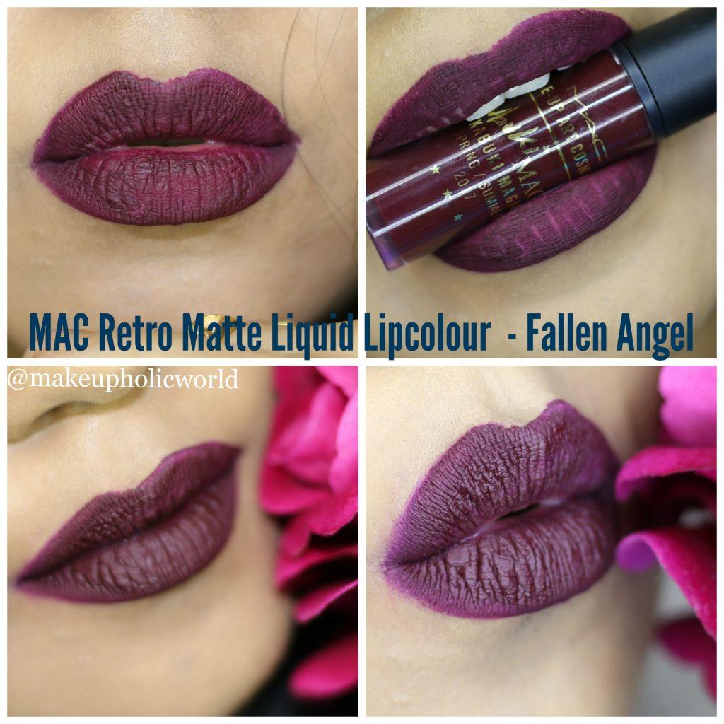 mac x kabuki magic retro matte liquid lipcolour fallen angel