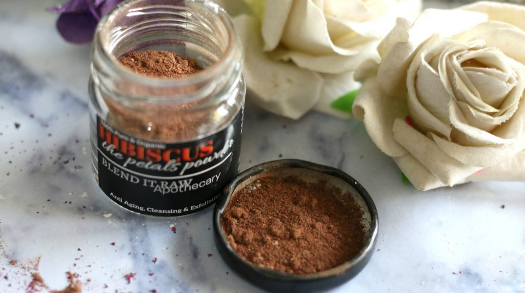blend it raw beauty HIBISCUS The Petals Powder review, HIBISCUS The Petals Powder