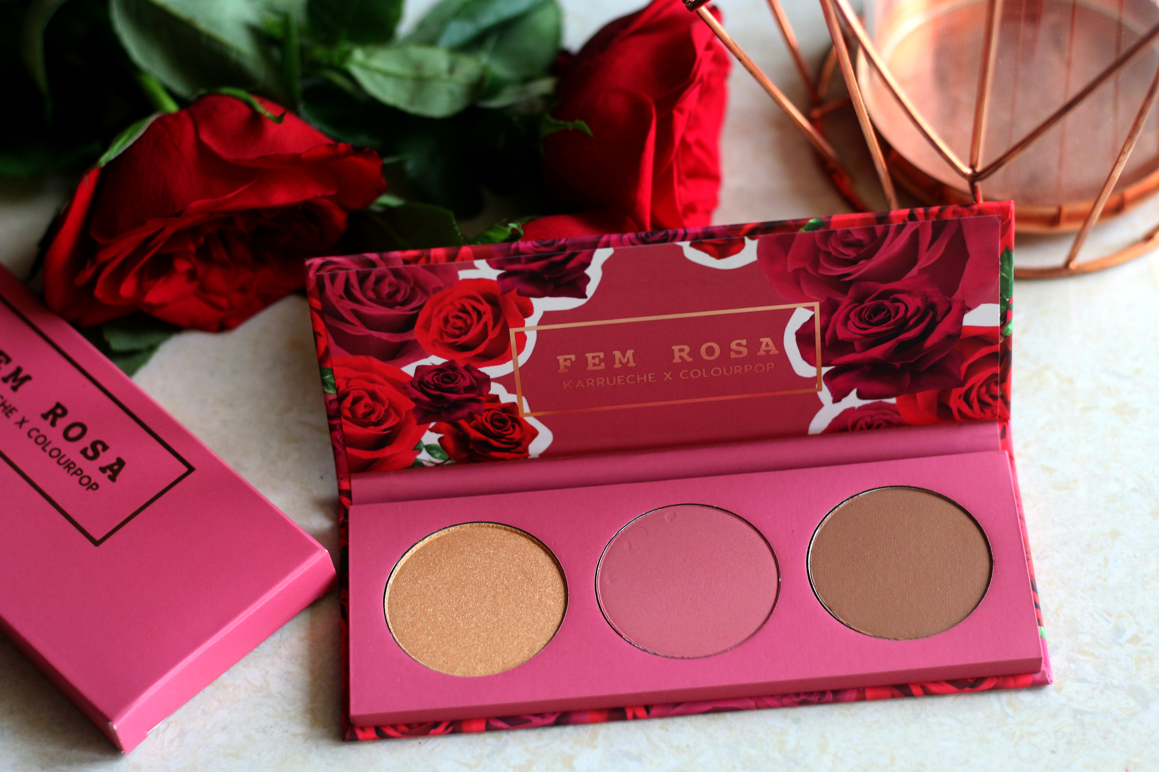 ColourPop Fem Rosa 'Her' Cheek Palette