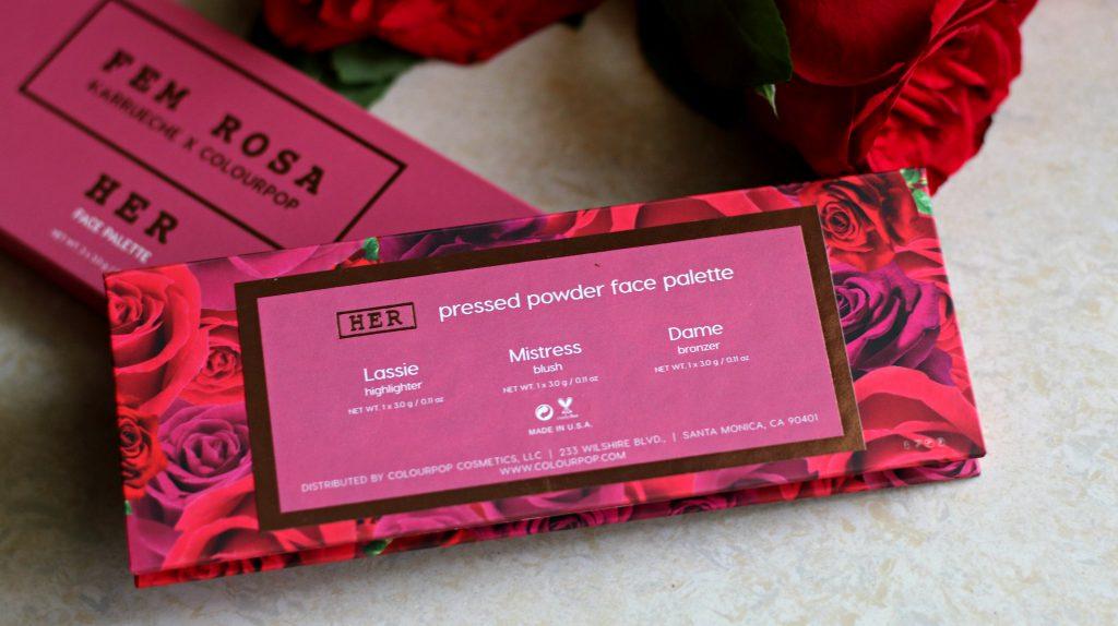 ColourPop X Karrueche 'FEM ROSA' Her Palette