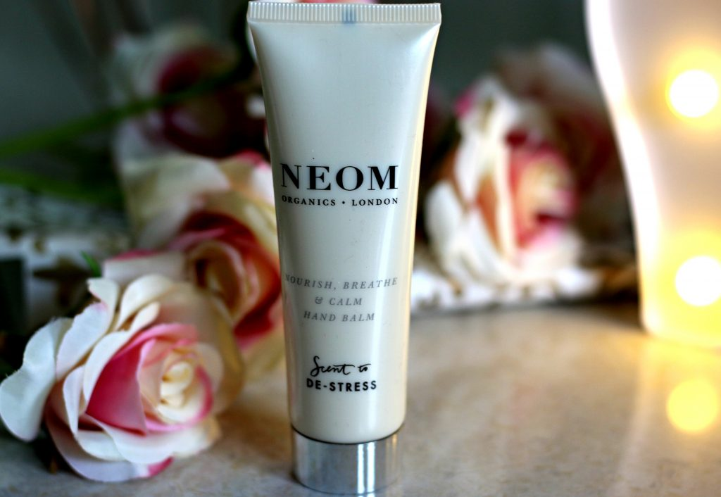 neom organics london hand cream, neom organics london handbalm, neom organics london hand cream, neom nourish breathe & calm hand balm, neom hand balm review, relax hand balm, best hand balm, best luxury hand balm, buy neom nourish, breathe & calm hand balm