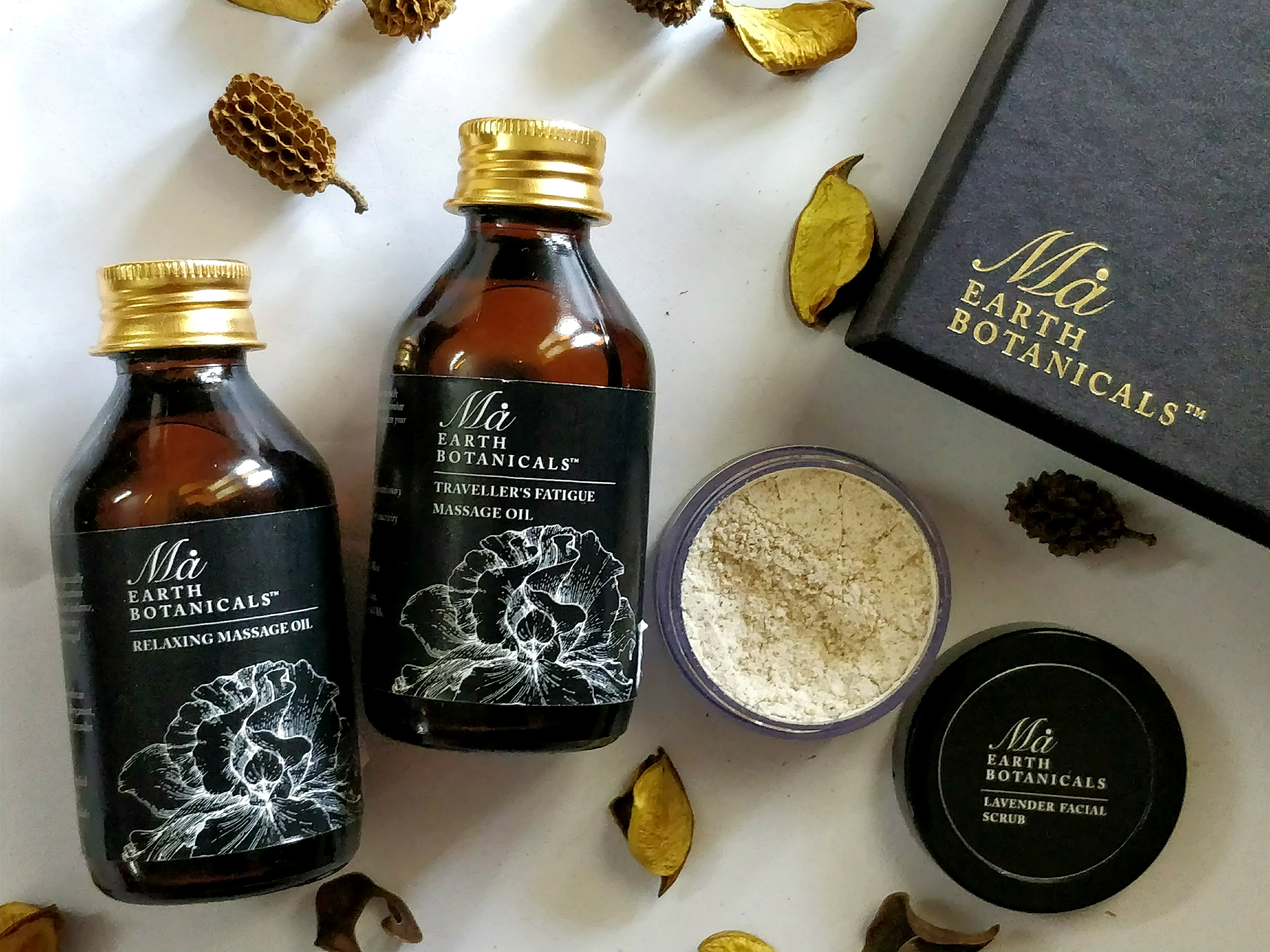 Get Pampered in the comfort of your home using these lovely Ma Earth Botanicals Massage Oils