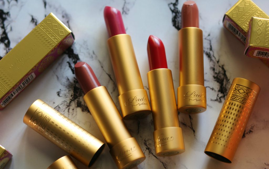 swatches of mac x padma lakshmi collection, mac padma lakshmi lipsticks, mac lipsticks, mac padmalakshmi collection, mac lipstick nude fudge, mac lipstick mittai pink, mac lipstick apricot gold, mac lipstick blue blood, mac eyeshadow 70's sunset review, mac eye quad, mac padmalakshmi eye quad, mac padma lakshmi eye quad review, mac lipstick nude fudge swatch, mac lipstick mittai pink swatch, mac lipstick apricot gold swatch , mac lipstick blue blood swatch, mac padma lakshmi lipstick nude fudge review, mac padma lakshmi lipstick mittai pink review, mac padma lakshmi lipstick apricot gold review, mac padma lakshmi lipstick blue blood review