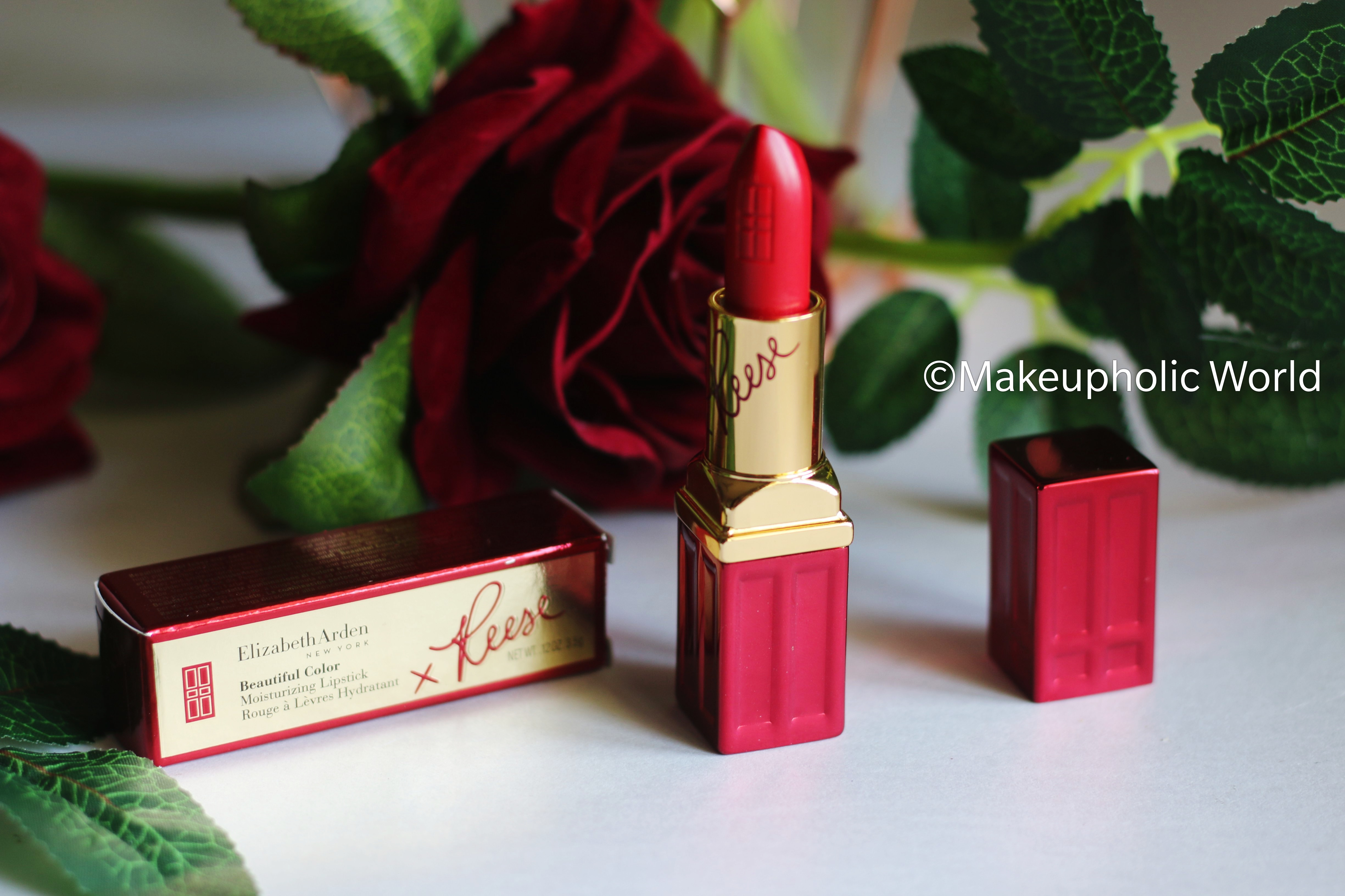 Elizabeth Arden x Reese Witherspoon Limited Edition Beautiful Color Moisturizing Lipstick – Red Door Red | Swatches & Review